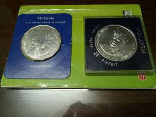 🔥🔥 (#1) Combo Sales. 2pcs Silver Coin Malaysia Commemorative Coin