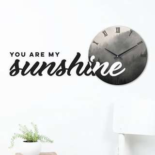 You Are My Sunshine - Wall Decal Clock Wall Sticker Clock