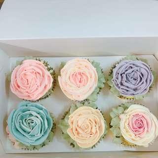Cupcake buttercream cake