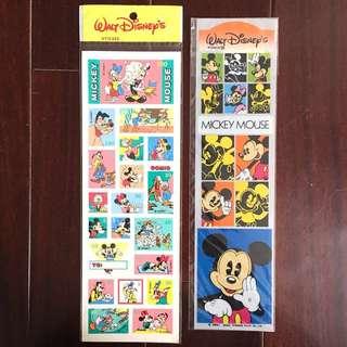 Mickey Mouse 米老鼠 米奇 迪士尼 美製 懷舊 貼紙