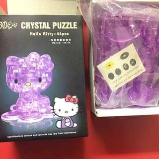 3D水晶拼圖 hello ketty 紫色版