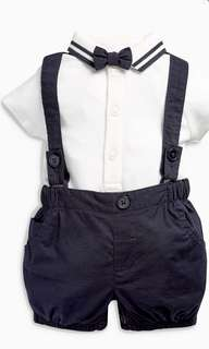 Baby suits with short and bow tie