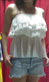Bundle White Tube Top and Short
