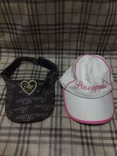 Authentic hats Paris hilton with free pineapple hat from debenhams