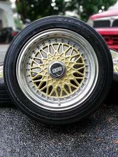 Bbs rs 15 inch sports rim alza tyre 70%. *big big offer*