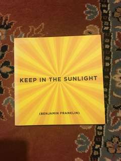 Keep In The Sunlight Notebook