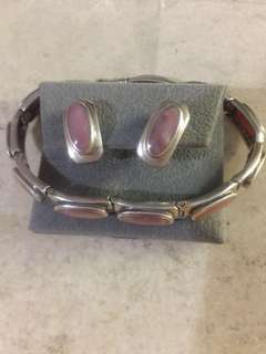 Vintage bracelet with matching earring