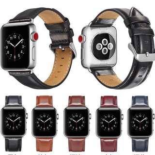 Apple watch 真皮表帶 $149 包平郵