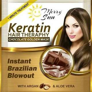 Merry Sun 🌞 Keratin Hair Therapy Chocolate Golden Mask