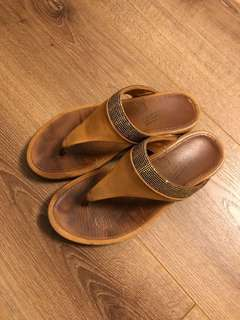 Fitflop Sandal Gold/Brown