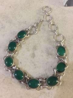 Green emerald jadeite bracelet