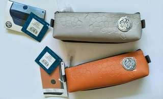 pencil case leather+fabric