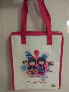 Pink Marigold Peel Fresh Cooler Bag With Zip
