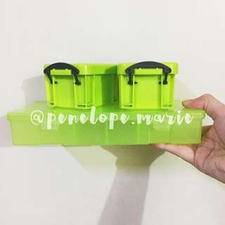 Plastic Desk Organizer Set (Apple Green) + Free Shipping