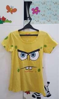 (Preloved) Coolteen Spongebob Yellow T-Shirt