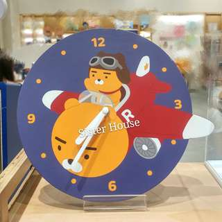 🇰🇷Kakao Friends Flying Ryan No Sound Wall Clock 無聲音掛牆時鐘