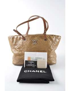 Chanel Quilted Leather On The Road Tote Bag