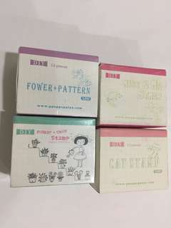 Rubber Stamps 4 sets