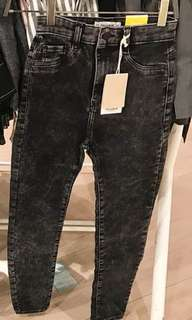 Pull&bear highwaist black washed skinny jeans