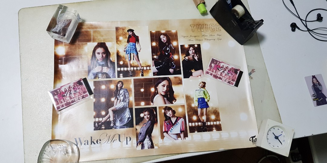 Last Set Twice Wake Me Up Group Photocard Poster Entertainment