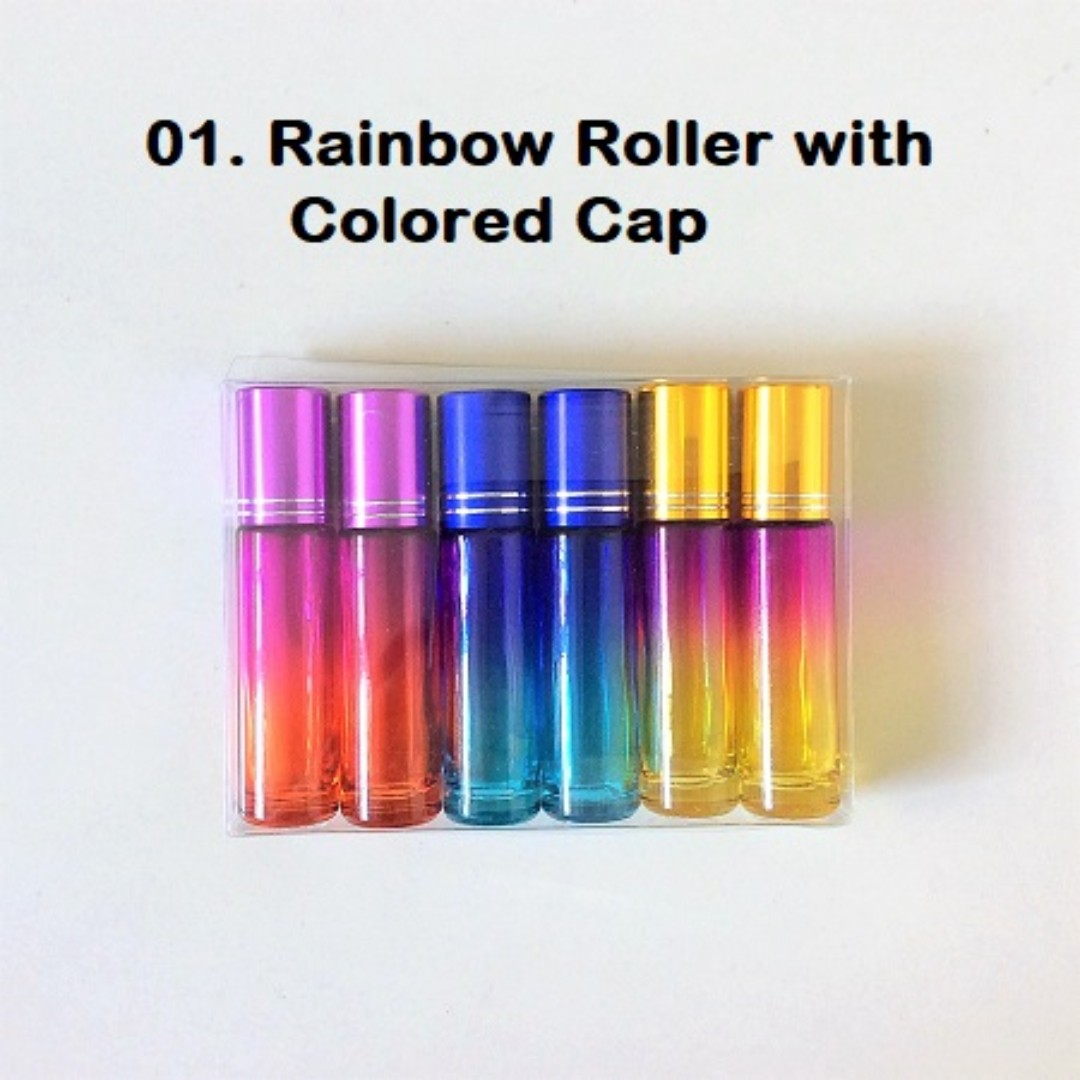 f28bbf041679 6 for $12 Rainbow Rollers | 10ml Rainbow Colored Rollers | Thick ...