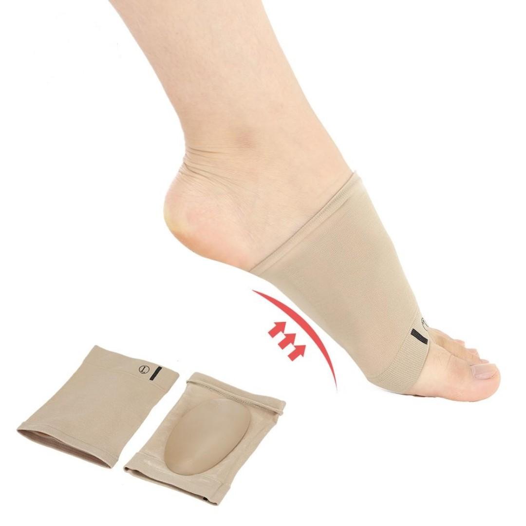 4f5f9e6113 A Pair of Nylon Gel Arch Support Plantar Fascia Cushion Flat Feet ...