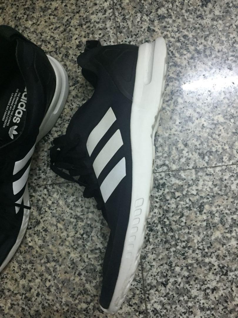 Adidas Black sports shoe with white
