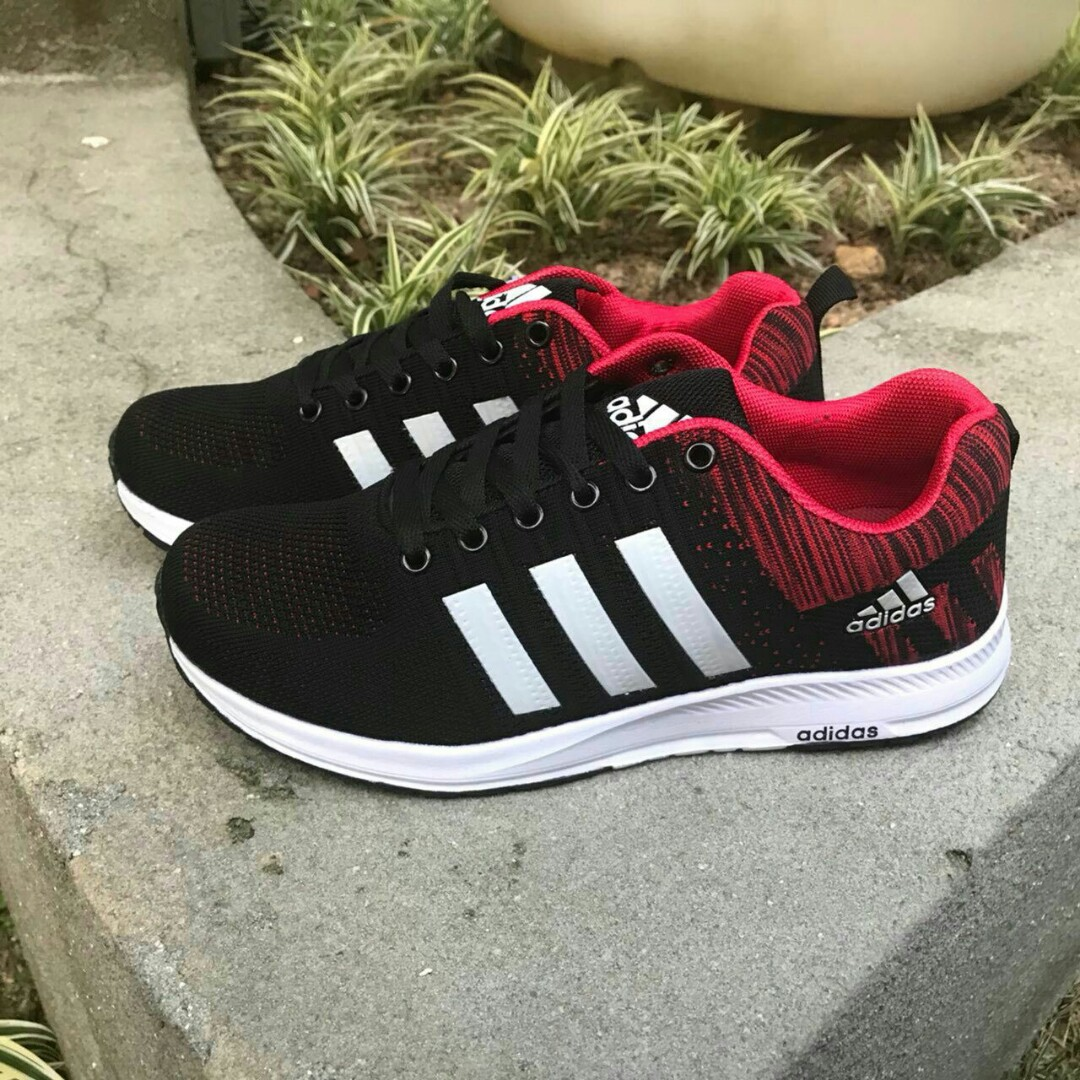 adidas cloudfoam black red