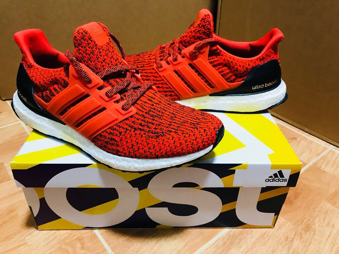 675f598bb50bf ... usa adidas ultra boost 3.0 energy red mens fashion footwear sneakers on  carousell 5a56e 08882