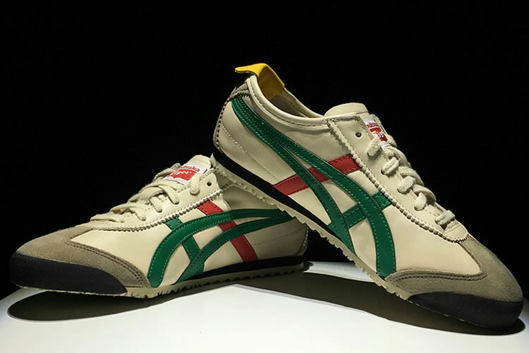 newest 1127e 0b3e5 Authentic Onitsuka Tiger (Mexico 66) Beige/ Green/ Red/ Gold ...