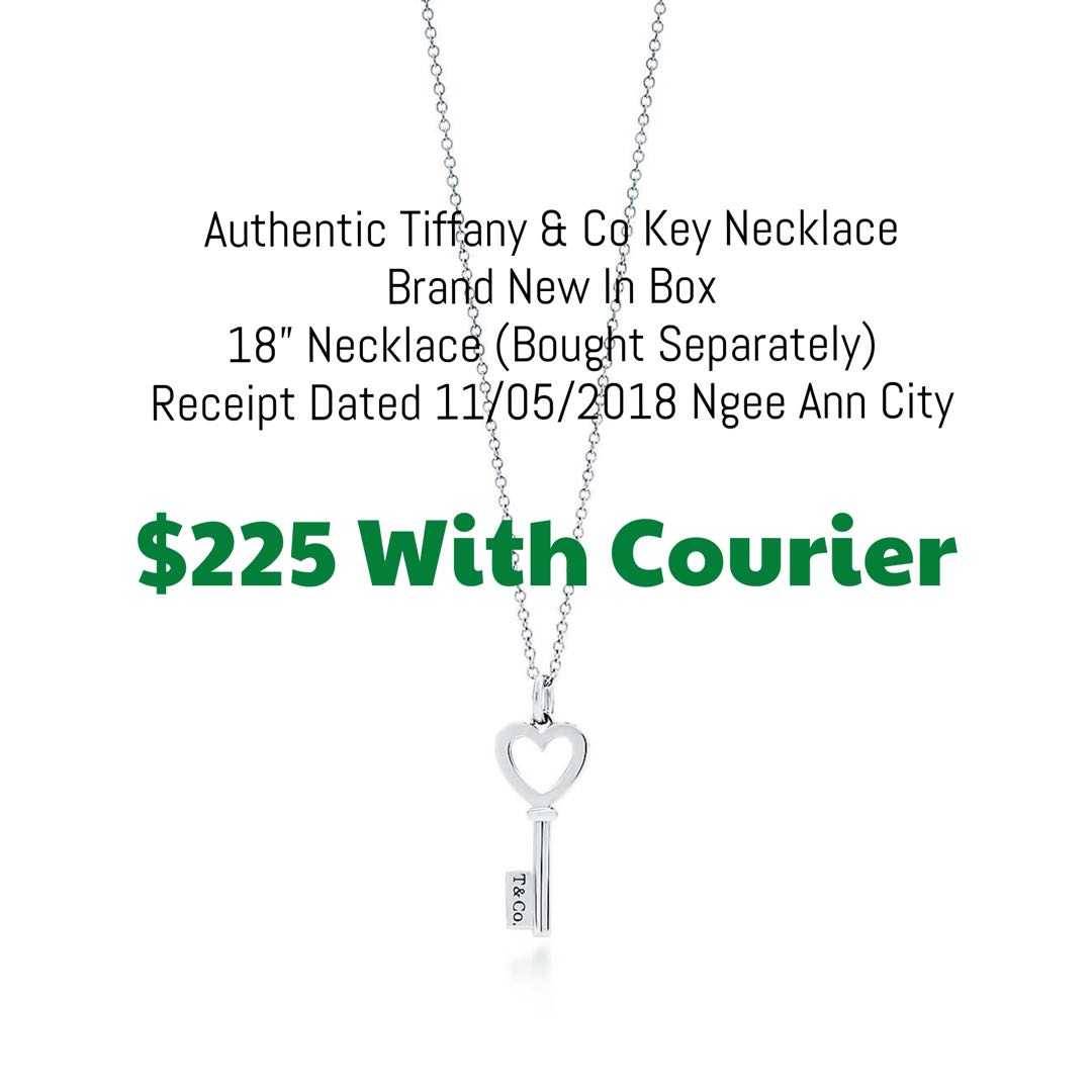 54e04a2c0994f Authentic Tiffany & Co Key Necklace, Luxury, Accessories, Others on ...