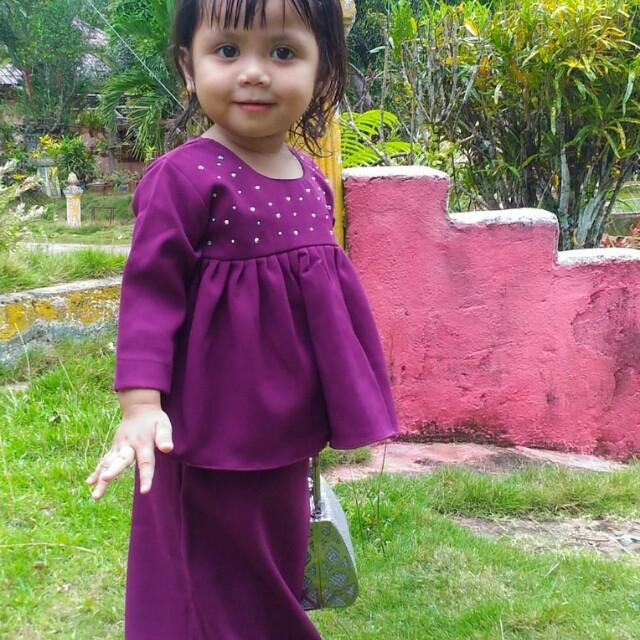 a9a0216abd8 Baju Kurung Kids Peplum Baby Raya 2018