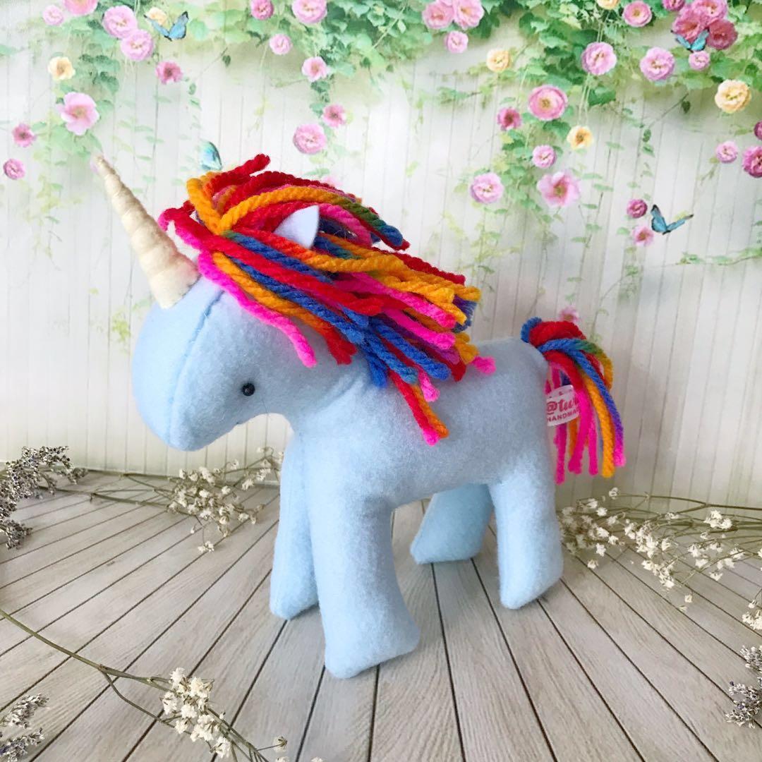 Boneka Unicorn Biru