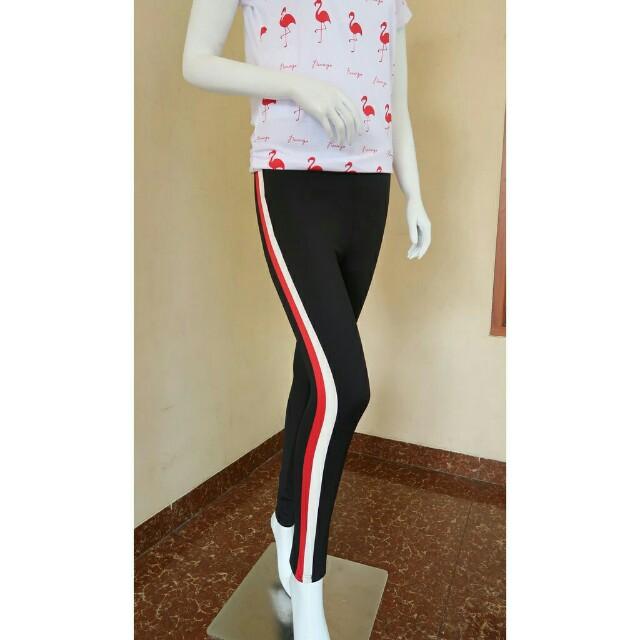 Celana Legging Scuba Fesyen Wanita Pakaian Wanita Bawahan Di Carousell