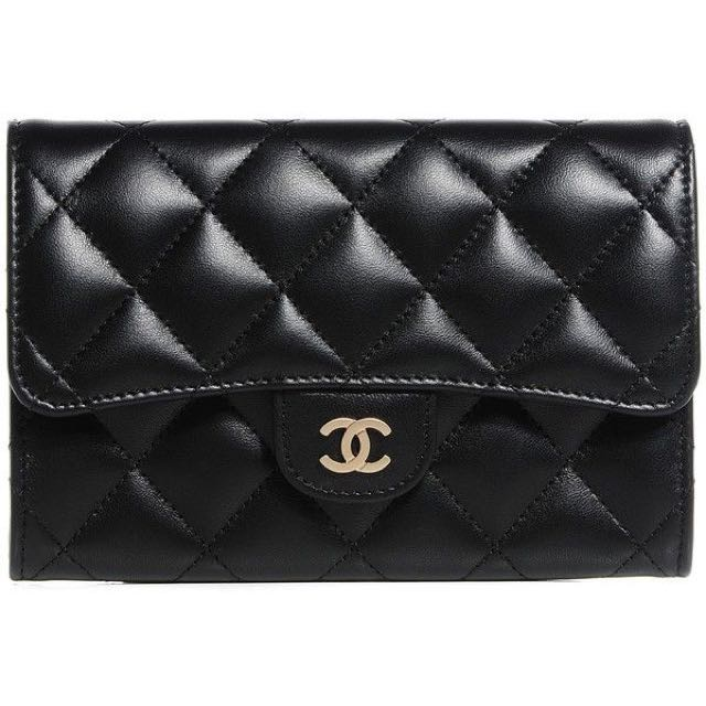 4118fd642b5ab4 Chanel Lambskin Quilted Cardholder Wallet, Luxury, Bags & Wallets on ...
