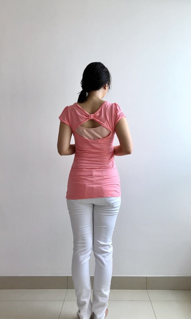 Forever 21 sexyback pink top