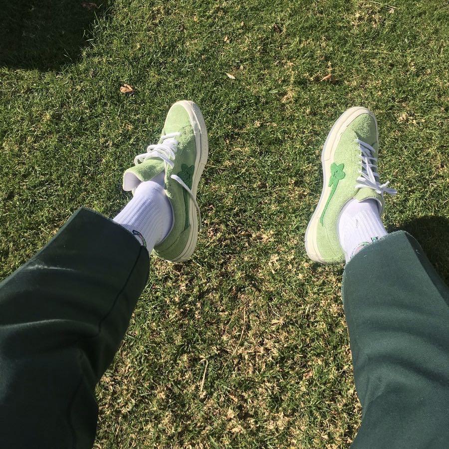 769d4add5563 Golf Le Fleur x Converse One Star Jade Lime Green