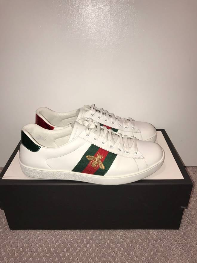 ca1d8e66af8 Gucci Ace Sneakers bee edition sz9