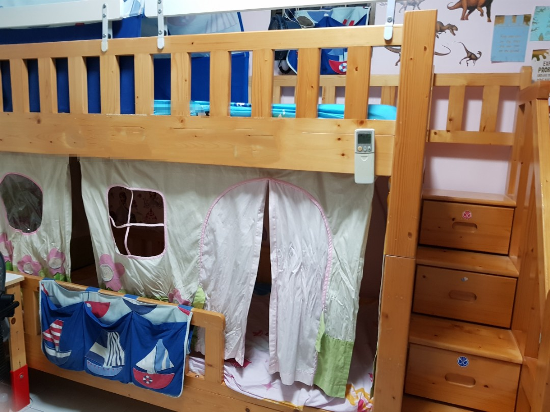 Ibenma Modular Bunk Bed With Drawers In Stairs Furniture Beds