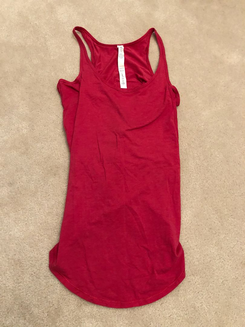 Lululemon Pink Open Back Tank Size 4