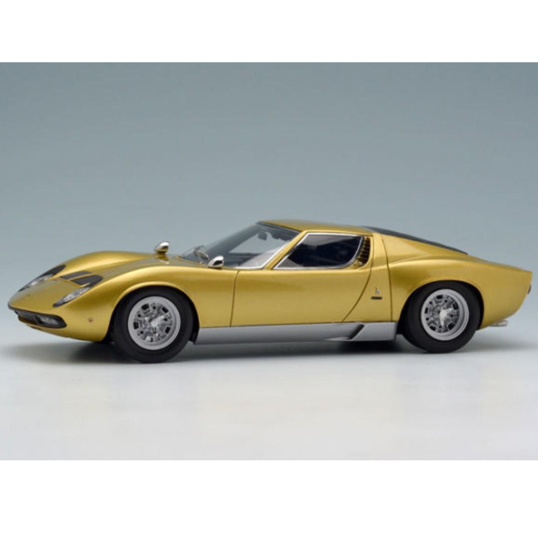 全新make Up 1 43 Lamborghini Miura P400 Sv 1971 Em319e Gold Silver