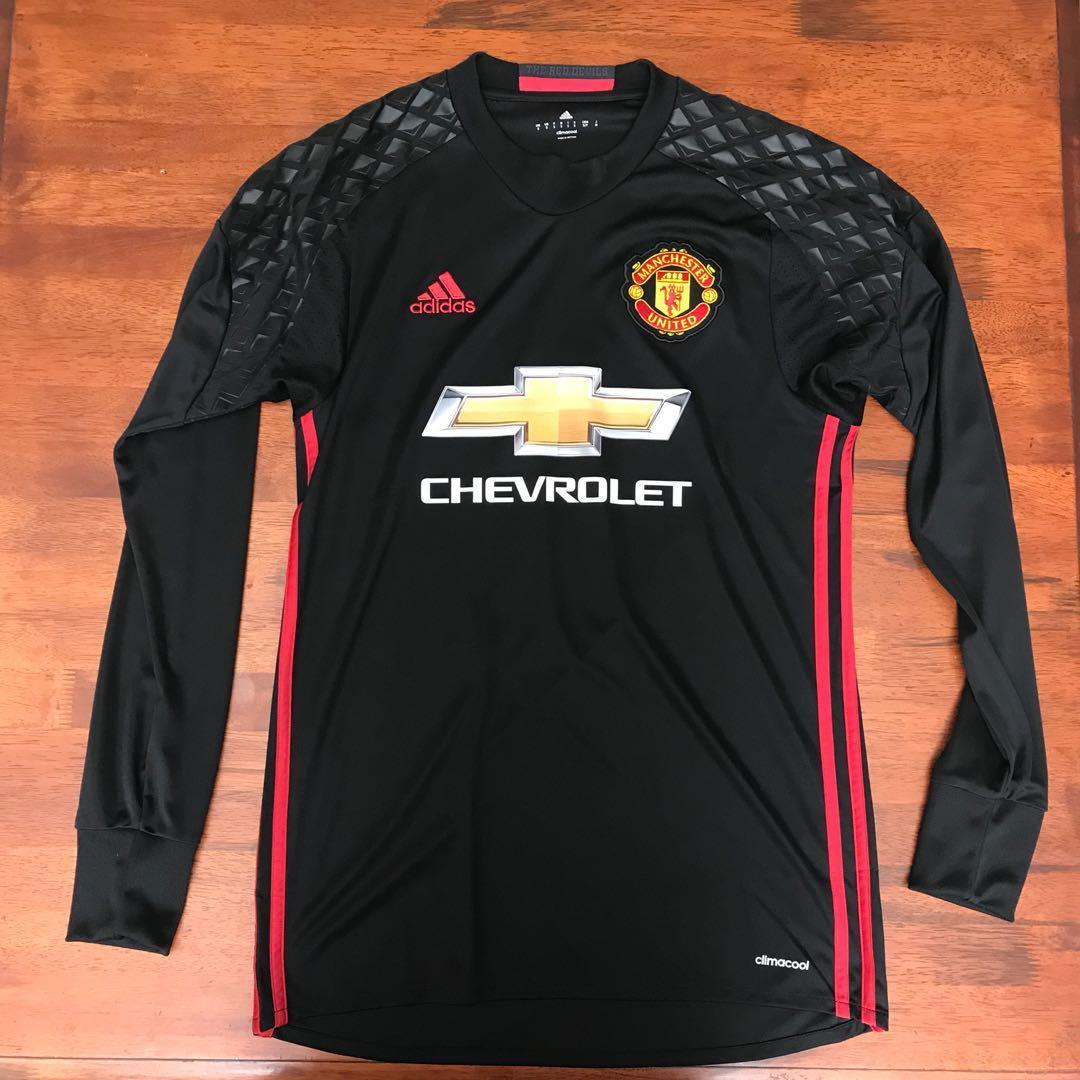 quality design 14fd6 8c47b Manchester United 16/17 (De Gea Nameset)Goal Keeper Jersey