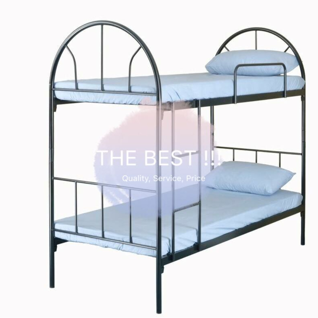 Picture of: New Commercial Dormitory Steel Double 2 Decker Bed Frame Furniture Beds Mattresses On Carousell