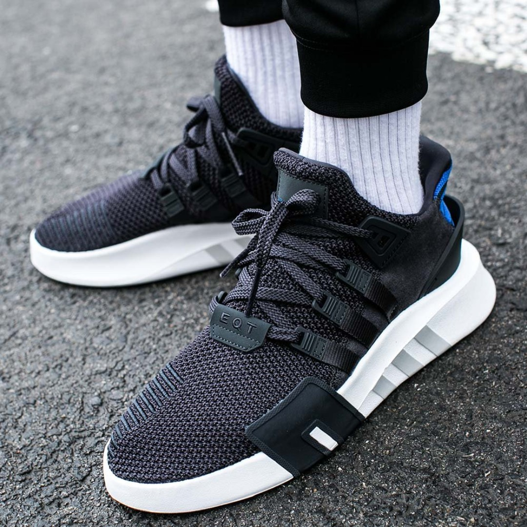 half off 51860 a134d PO) Adidas EQT Bask Adv Black Blue, Men's Fashion, Footwear ...