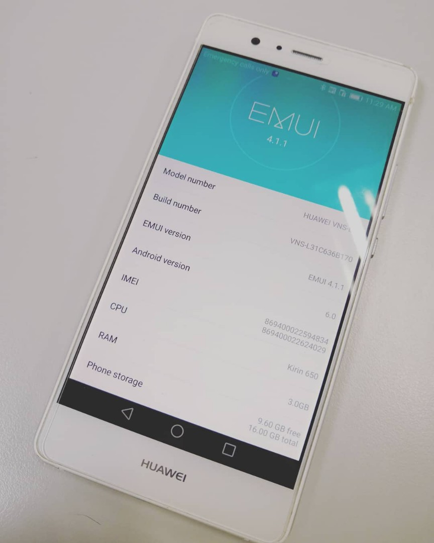Preloved Huawei P9 Lite / VNS-L31 (3GB/16GB) Smartphone Android White with  Box