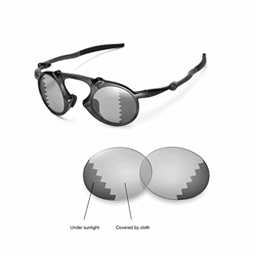 edaf83694b4 Walleva Replacement Lenses Oakley Madman Sunglasses - Multiple Options  Available (Transition photochromic - Polarized)