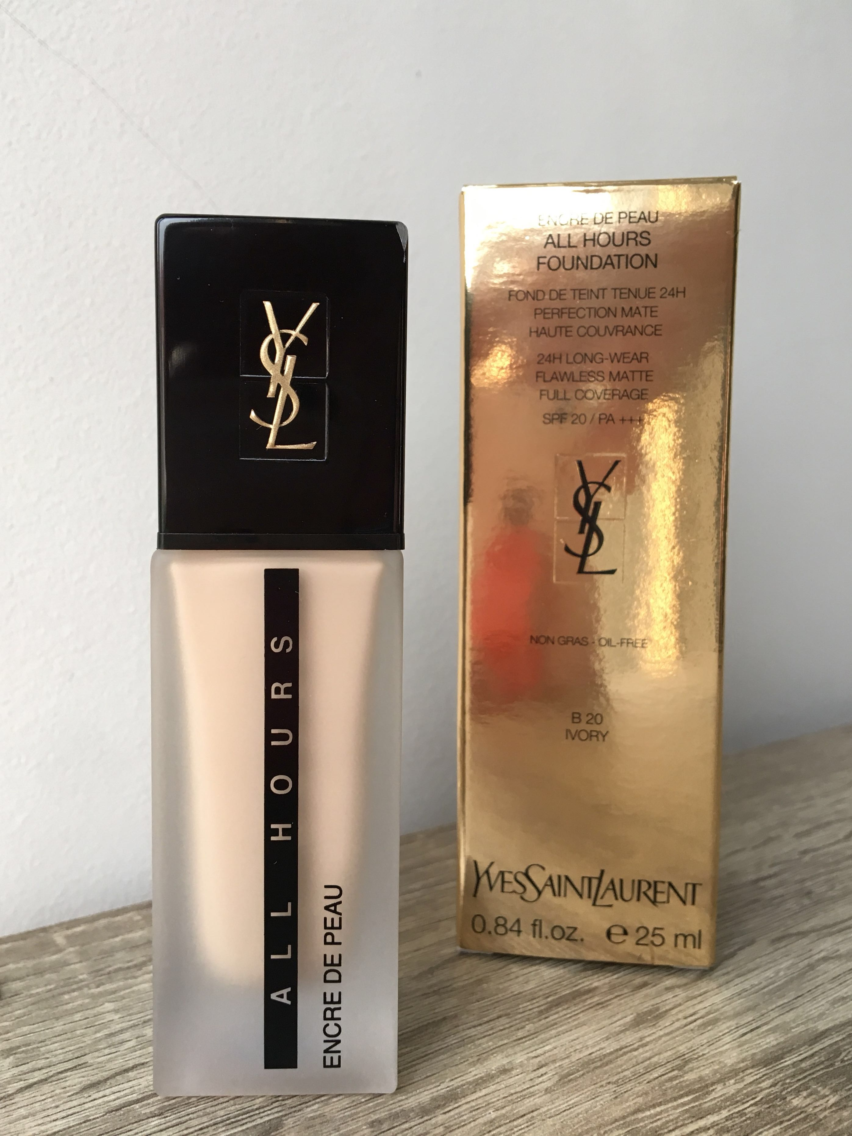c81b5fddb1ad8 YSL All Hours Full Coverage Matte Foundation in Shade B20 (Ivory ...