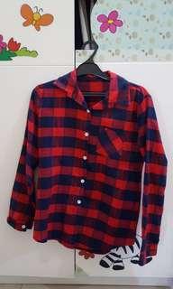 (Preloved) Plaid Shirt / Kemeja Kotak-Kotak