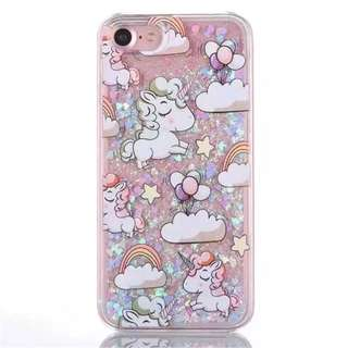 iPhone X Unicorn Glitter Case