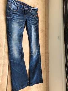 Red pepper jeans